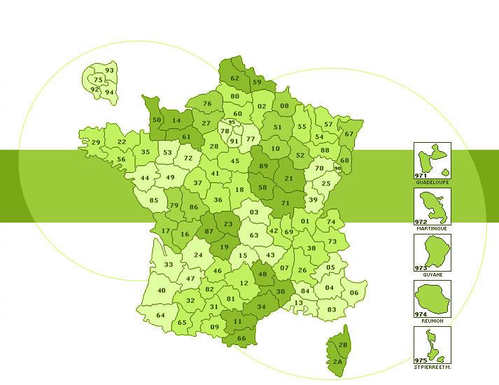 carte france departement
